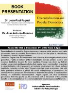 Image for Decentralization and Popular Democracy: Book Presentation by Dr. Jean-Paul Faguet