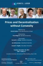 Image for 7th Annual Kenneth J. Arrow Lecture: Prices and Decentralization without Convexity